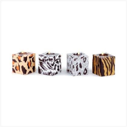 Safari Cube Candles - Set of 4