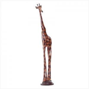 Hand Painted Giraffe Sculpture