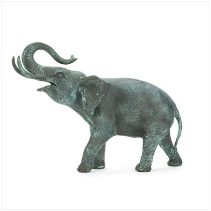 Aluminum Walking Elephant Statue