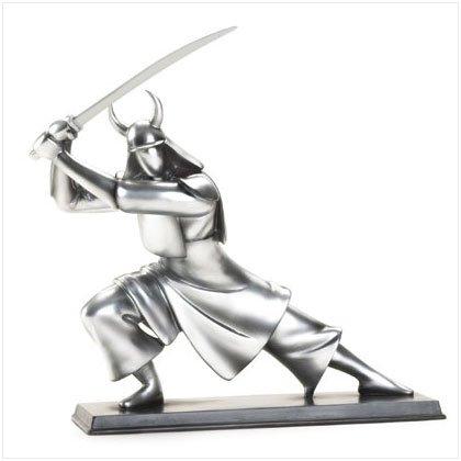 Pewter Colored Samurai Sculpture