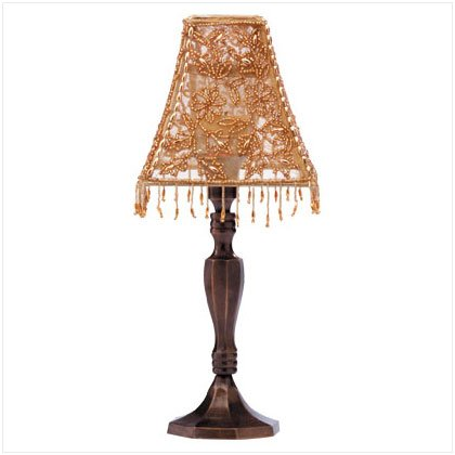 Beaded Shade Candle Lamp