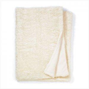 White Full Size Faux Fur Blanket