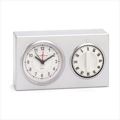 Mom's Kitchen Clock with Timer