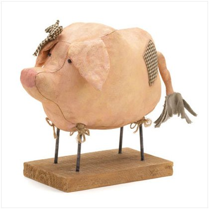 Fabric Pig Figurine