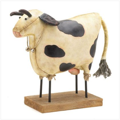 Fabric Cow Figurine