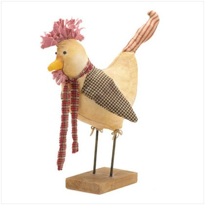 Fabric Chicken Figurine
