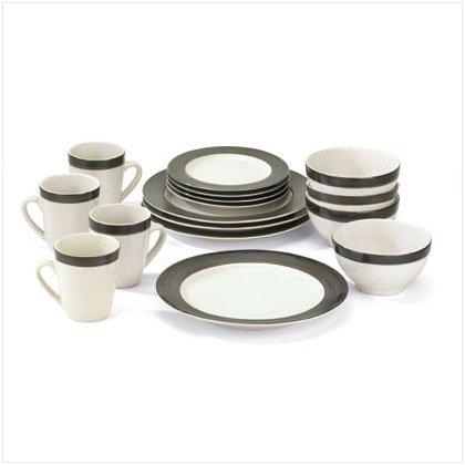 Tuxedo Dinnerware 16 Piece Set
