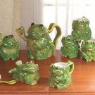 10 Piece Frog Tea Set
