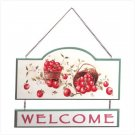 "Wooden Apple ""Welcome"" Sign"