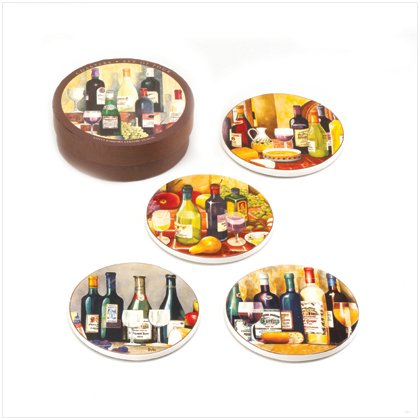 In Vino Veritas Coaster Set