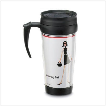 """Shopping Girl"" Commuter Mug"
