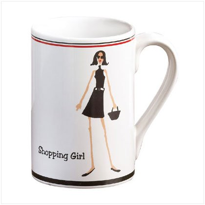 """Shopping Girl"" Mug"