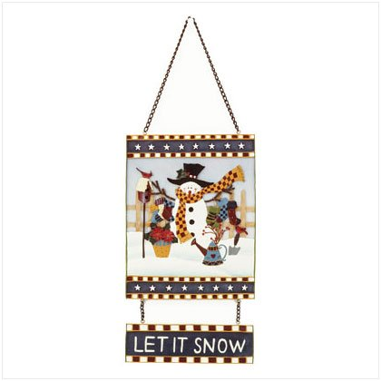 """Let It Snow"" Snowman Sign"