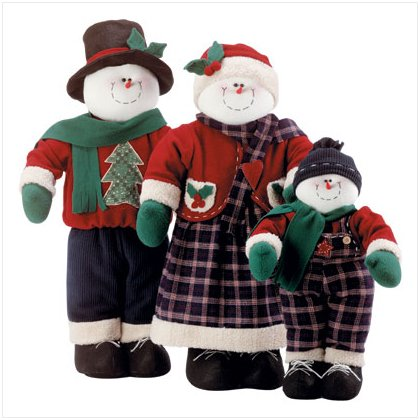 Decorative Snowman Family