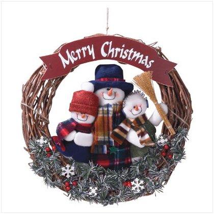 Snowman Family Wreath