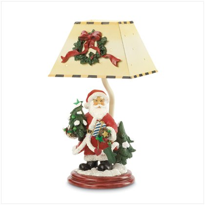 Santa Candle Lamp with Metal Shade