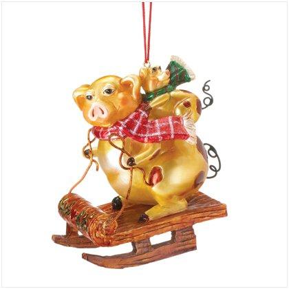 Golden Pigs Ornament