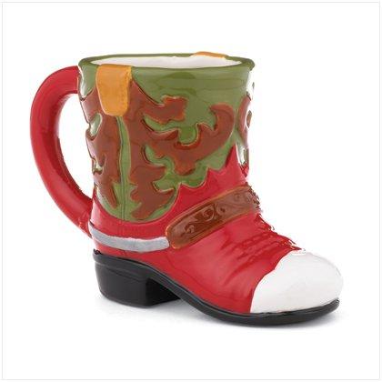 Western Print Christmas Boot Mug