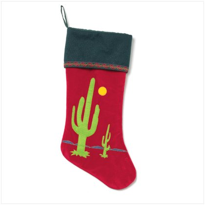 Velvet Cactus Christmas Stocking