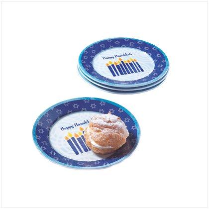 Hanukkah Dessert Plates - Set of 4