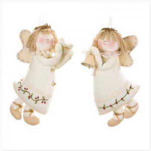 Plush Angel Ornaments