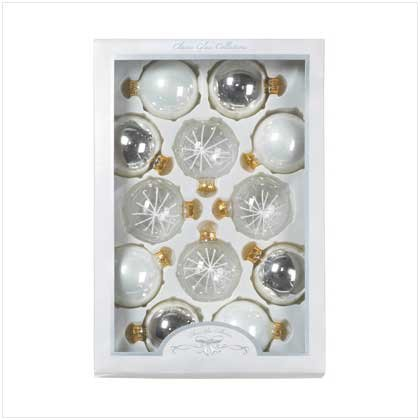 Silver & Gold Ornament Set of 12