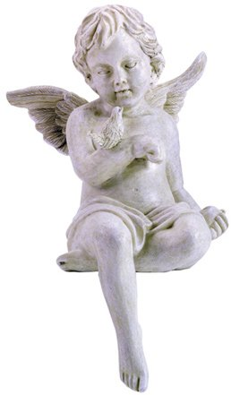 Seated Cherub With Dove