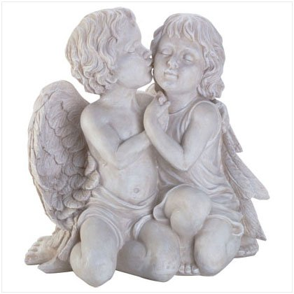 Kissing Cherub Sculpture