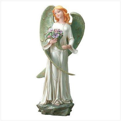Angelic Garden Sculpture with Bouquet