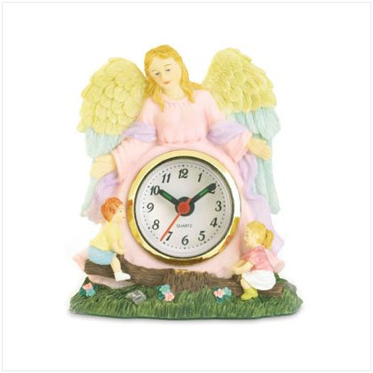 Springtime Guardian Angel Clock