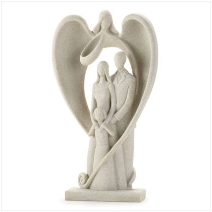 Family Guardian Angel Figurine