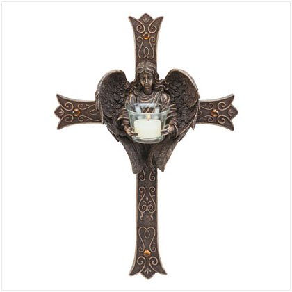 Angelic Cross Candleholder