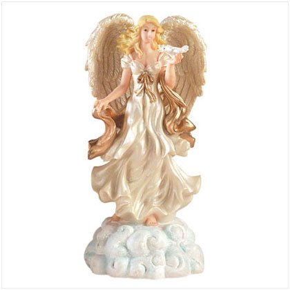 Musical Angel Figurine With Dove