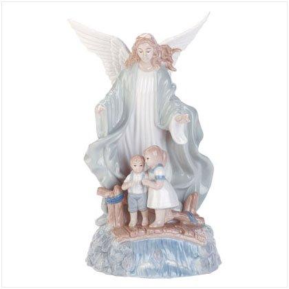 Musical Porcelain Guardian Angel
