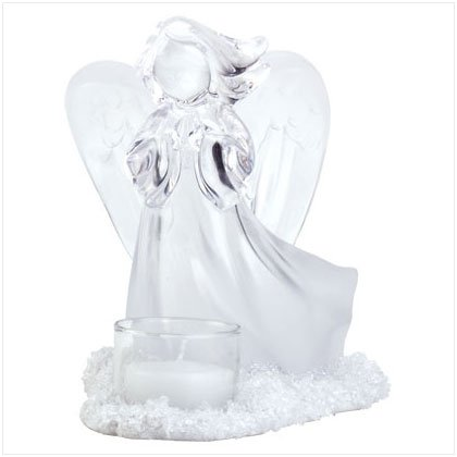 Frosted Angel Candleholder