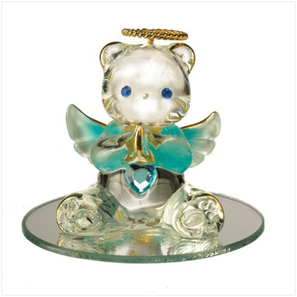 Glass Birthstone Teddy - March