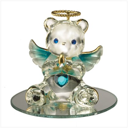 Glass Birthstone Teddy - December