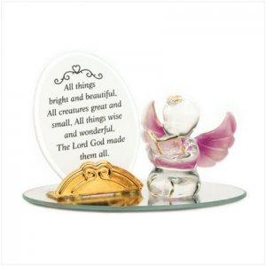 Devotional Cherub Glass Sculpture