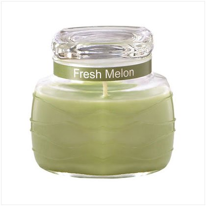 Green Ripple Jar Candle