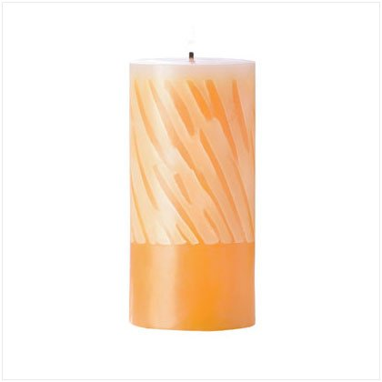 Orange & White Pillar Candle