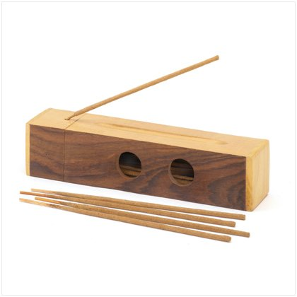 30 Stick Wooden Incense Gift Set with Holder