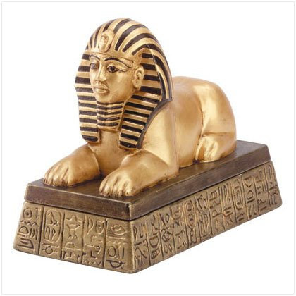 Black & Gold Sphinx Treasure Box