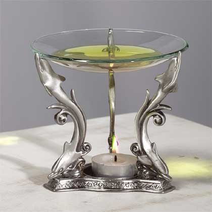 Pewter Dolphin Oil Warmer