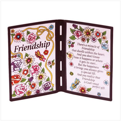 """Friendship"" Plaque"