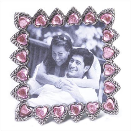"Pink Hearts 3"" x 3""  Photo Frame"