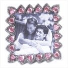"""Pink Hearts 3"""" x 3""""  Photo Frame"""
