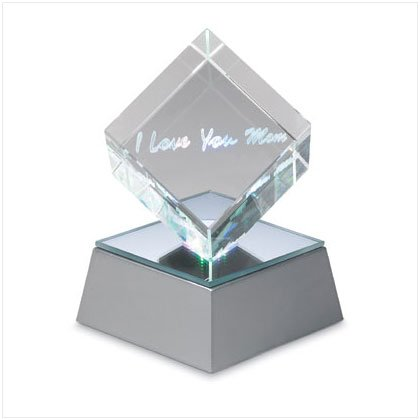 "'I Love You Mom"" Lighted Cube"