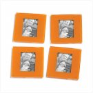 Orange Photo Coaster Frames - Set of 4