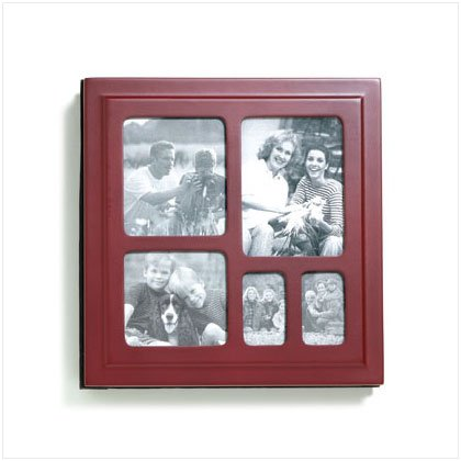 Velvet-Lined Wood  Frame Cover Photo Album
