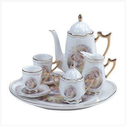 10 Piece Mary & Jesus Tea Set